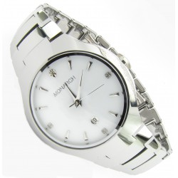 """Monarch Tungsten Wolfram Armband Uhr """"Classic White"""""""
