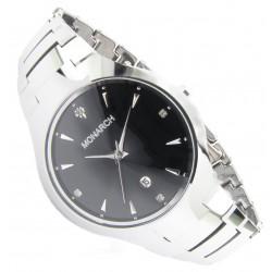 """Monarch Tungsten Wolfram Armband Uhr """"Classic Black"""""""