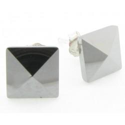 """Tungsten Wolfram Ohrstecker """"Square Str8"""" by Monarch"""